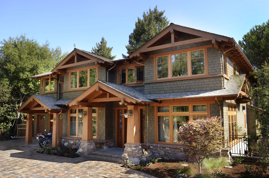 Portfolio craftsman style architecture los altos california seddon construction company - Craftsman home exterior ...