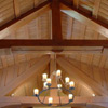 Seddon Construction Company - English Manor living room/great hall with timber vault ceiling