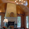 Seddon Construction Company - English Manor living room/great hall fireplace