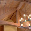 Seddon Construction Company - English Manor living room/great hall - timber vault ceiling view