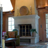 Seddon Construction Company - English Manor living room/great hall - fireplace view from right